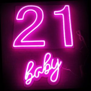 21 Baby Birthday Party LED Neon Sign - photo CustomNeon.com