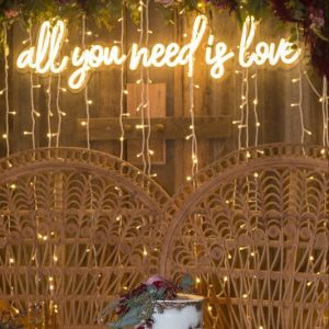 * All You Need is Love * cursive neon sign for weddings & events