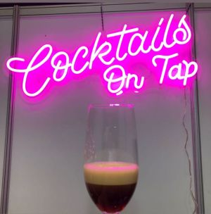 LED Neon Cocktail Sign * Cocktails on Tap * | Custom Neon Bar Signs - photo from CustomNeon.com