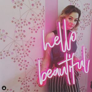 Hello Beautiful LED Neon Sign On Trend Neon Wall Art - photo Custom Neon by Neon Collective