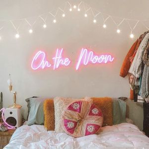 * On the Moon * Neon Signs for Bedroom LED Neon Light Decor from Custom Neon by Neon Collective