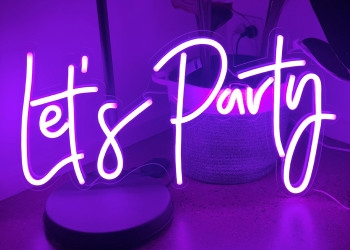 Lighted party sign Let's Party